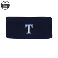 EARBAND, KNIT NAVY WITH FLEECE LINING NAVY/COLUMBIA BLUE T