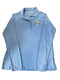 POLO, ANTIGUA WOMEN'S LONG SLEEVE IN CAROLINA BLUE