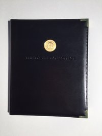 PADFOLIO WITH BRASS MEDALLION