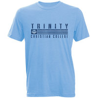 LIGHT BLUE TRINITY T-SHIRT WITH TROLL