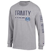 T-SHIRT, CHAMPION LONG SLEEVE OXFORD WITH TROLL NATION DOWN SLEEVE