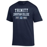 NAVY TRINITY CHRISTIAN COLLEGE T-SHIRT