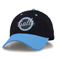 BLACK PERFORATED CAP WITH BLUE BILL