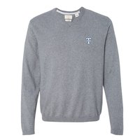 SWEATER, MEN'S CHARCOAL V NECK