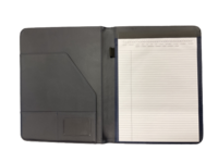PADFOLIO, NAVY WITH SEAL FAUX LEATHER