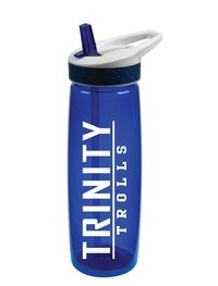 PLASTIC WATER BOTTLE WITH FLIP UP STRAW