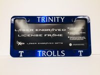 NAVY TROLLS LICENSE PLATE HOLDER