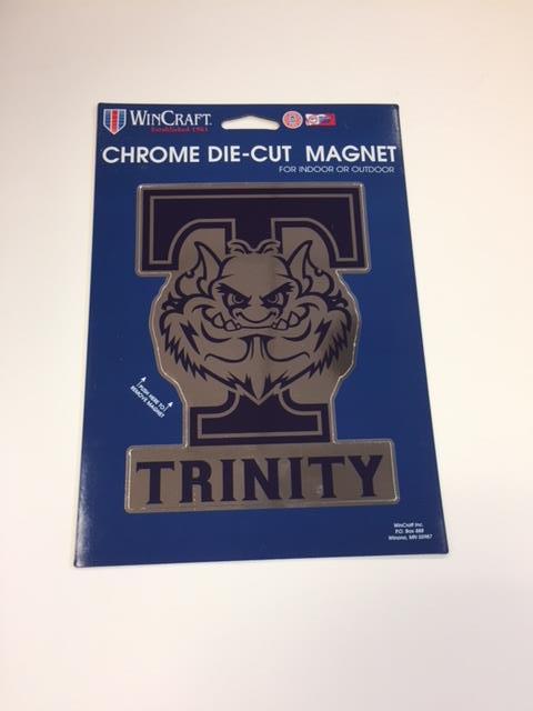 Chrome Car Magnet With Troll Trinity Christian College